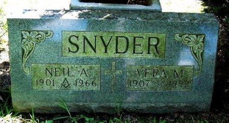 SNYDER, NEIL A - Calhoun County, Michigan   NEIL A SNYDER - Michigan Gravestone Photos
