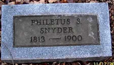 SNYDER, PHILETUS S - Calhoun County, Michigan | PHILETUS S SNYDER - Michigan Gravestone Photos