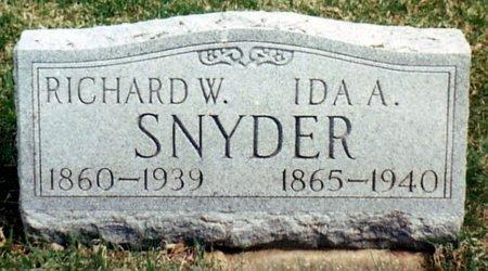SNYDER, IDA A. - Calhoun County, Michigan | IDA A. SNYDER - Michigan Gravestone Photos