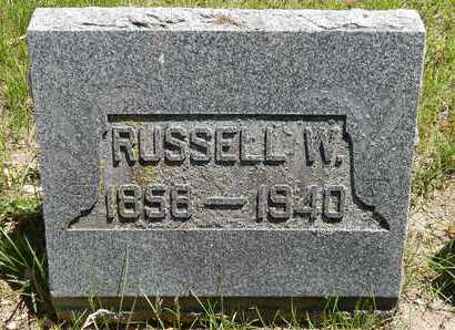 SNYDER, RUSSELL W - Calhoun County, Michigan | RUSSELL W SNYDER - Michigan Gravestone Photos