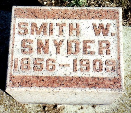 SNYDER, SMITH W. - Calhoun County, Michigan | SMITH W. SNYDER - Michigan Gravestone Photos
