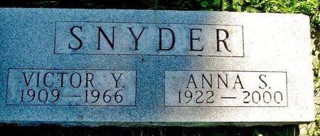 SNYDER, ANNA S. - Calhoun County, Michigan | ANNA S. SNYDER - Michigan Gravestone Photos