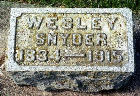 SNYDER, WESLEY - Calhoun County, Michigan | WESLEY SNYDER - Michigan Gravestone Photos
