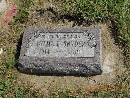 SNYDER, WILMA E. - Calhoun County, Michigan   WILMA E. SNYDER - Michigan Gravestone Photos