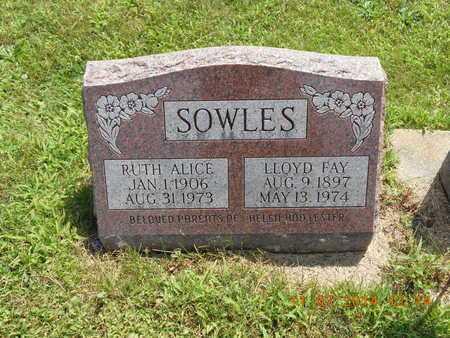 SOWLES, RUTH ALICE - Calhoun County, Michigan | RUTH ALICE SOWLES - Michigan Gravestone Photos