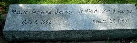 SPENCER, MARIAN - Calhoun County, Michigan | MARIAN SPENCER - Michigan Gravestone Photos