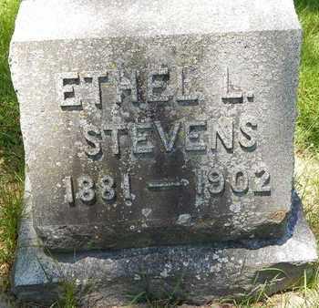 STEVENS, ETHEL L - Calhoun County, Michigan   ETHEL L STEVENS - Michigan Gravestone Photos