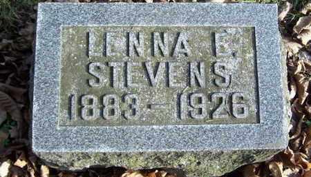STEVENS, LENNA E - Calhoun County, Michigan | LENNA E STEVENS - Michigan Gravestone Photos