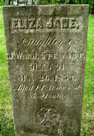 STEWART, ELIZA J - Calhoun County, Michigan | ELIZA J STEWART - Michigan Gravestone Photos