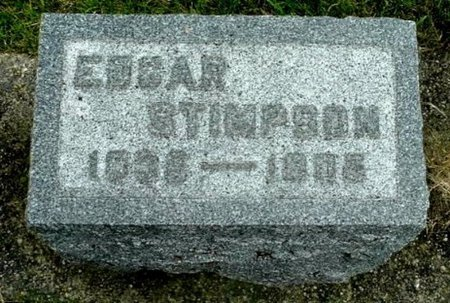 STIMPSON, EDGAR - Calhoun County, Michigan | EDGAR STIMPSON - Michigan Gravestone Photos