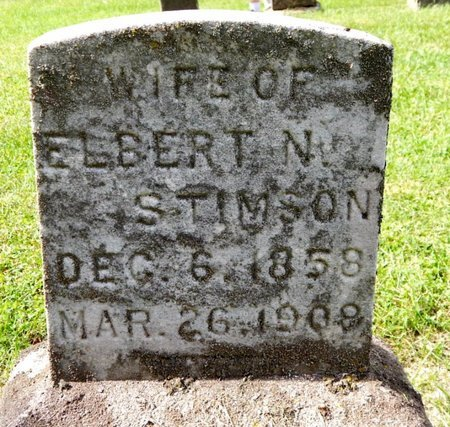 STIMPSON, MINNIE - Calhoun County, Michigan | MINNIE STIMPSON - Michigan Gravestone Photos