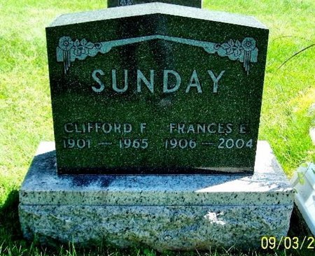 SUNDAY, CLIFFORD F - Calhoun County, Michigan | CLIFFORD F SUNDAY - Michigan Gravestone Photos