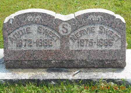SWEET, NERVIE - Calhoun County, Michigan | NERVIE SWEET - Michigan Gravestone Photos
