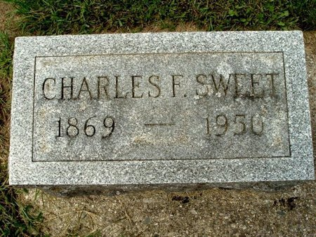 SWEET, CHARLES F. - Calhoun County, Michigan | CHARLES F. SWEET - Michigan Gravestone Photos