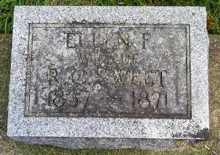 SWEET, ELLEN F - Calhoun County, Michigan | ELLEN F SWEET - Michigan Gravestone Photos