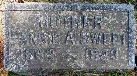 SWEET, FANNIE A - Calhoun County, Michigan   FANNIE A SWEET - Michigan Gravestone Photos