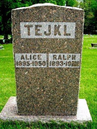 TEJKL, RALPH - Calhoun County, Michigan | RALPH TEJKL - Michigan Gravestone Photos