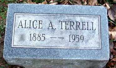TERRELL, ALICE A - Calhoun County, Michigan | ALICE A TERRELL - Michigan Gravestone Photos