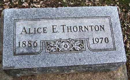 THORNTON, ALICE E - Calhoun County, Michigan | ALICE E THORNTON - Michigan Gravestone Photos