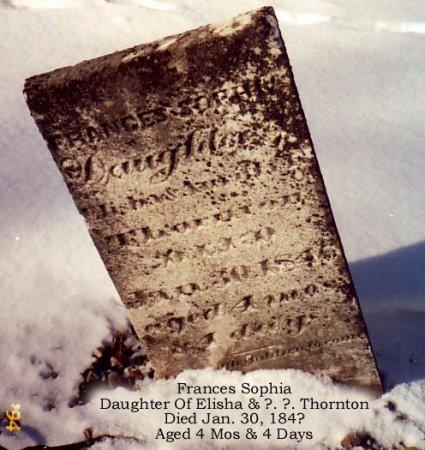 THORNTON, FRANCES SOPHIA - Calhoun County, Michigan   FRANCES SOPHIA THORNTON - Michigan Gravestone Photos