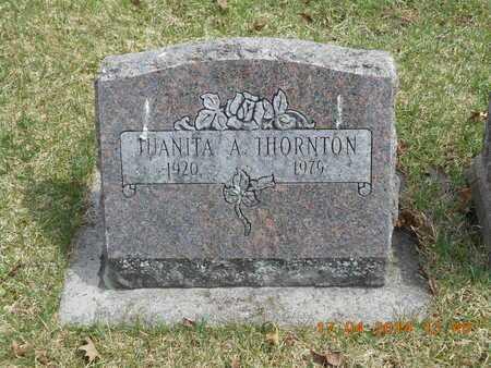 THORNTON, JUANITA A. - Calhoun County, Michigan   JUANITA A. THORNTON - Michigan Gravestone Photos