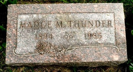 THUNDER, MADGE M - Calhoun County, Michigan | MADGE M THUNDER - Michigan Gravestone Photos