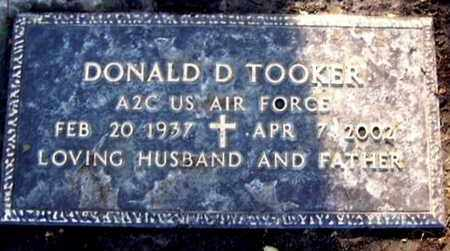 TOOKER, DONALD D - Calhoun County, Michigan | DONALD D TOOKER - Michigan Gravestone Photos
