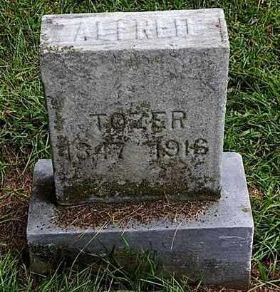 TOZER, ALFRED - Calhoun County, Michigan   ALFRED TOZER - Michigan Gravestone Photos