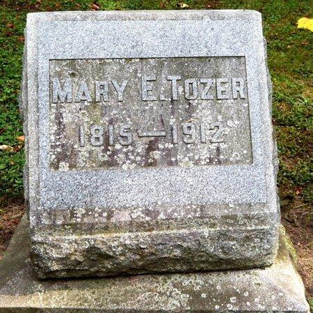TOZER, MARY E - Calhoun County, Michigan   MARY E TOZER - Michigan Gravestone Photos