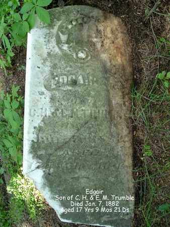 TRUMBLE, EDGAIR - Calhoun County, Michigan   EDGAIR TRUMBLE - Michigan Gravestone Photos
