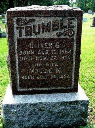 TRUMBLE, MAGGIE - Calhoun County, Michigan | MAGGIE TRUMBLE - Michigan Gravestone Photos