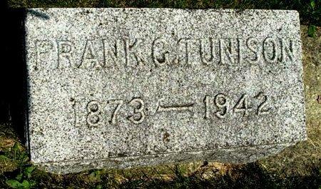 TUNISON, FRANK G - Calhoun County, Michigan | FRANK G TUNISON - Michigan Gravestone Photos