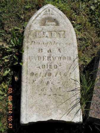 UNDERWOOD, MARY - Calhoun County, Michigan | MARY UNDERWOOD - Michigan Gravestone Photos