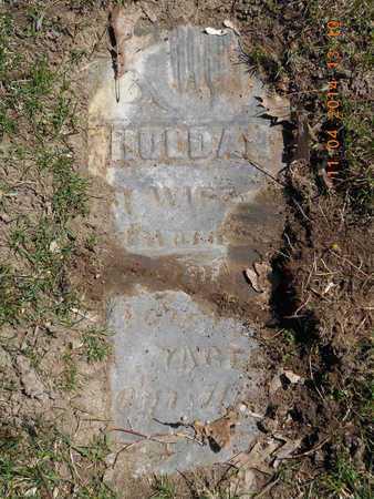 UNKNOWN, HULDAH - Calhoun County, Michigan | HULDAH UNKNOWN - Michigan Gravestone Photos