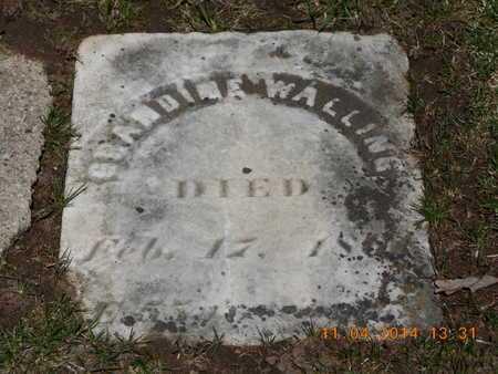 WALLING, GRANDINE - Calhoun County, Michigan | GRANDINE WALLING - Michigan Gravestone Photos