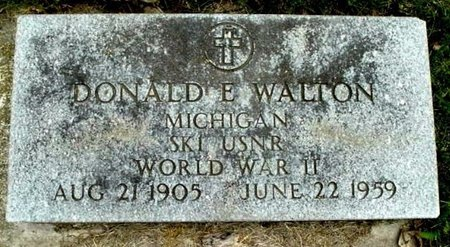WALTON, DONALD E - Calhoun County, Michigan | DONALD E WALTON - Michigan Gravestone Photos