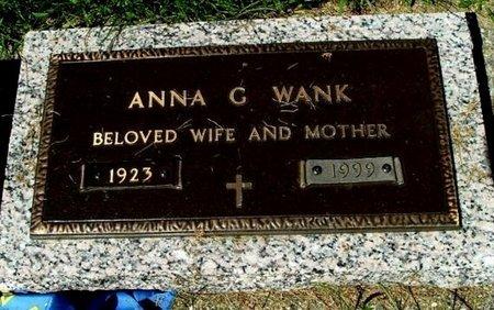 WANK, ANNA G. - Calhoun County, Michigan   ANNA G. WANK - Michigan Gravestone Photos