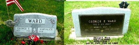 WARD, GEORGE E - Calhoun County, Michigan | GEORGE E WARD - Michigan Gravestone Photos
