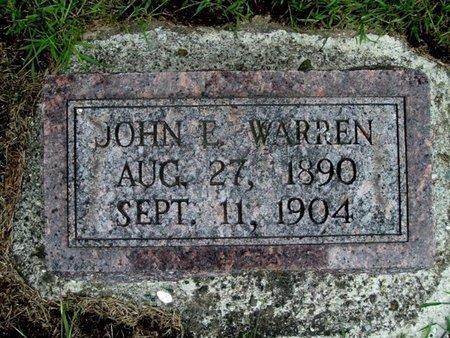 WARREN, JOHN E. - Calhoun County, Michigan | JOHN E. WARREN - Michigan Gravestone Photos