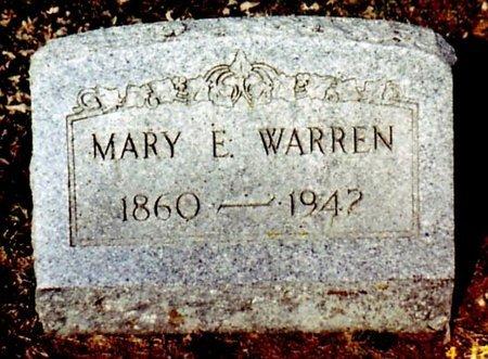 WARREN, MARY E. - Calhoun County, Michigan   MARY E. WARREN - Michigan Gravestone Photos