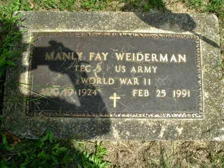 WEIDERMAN, MANLY - Calhoun County, Michigan | MANLY WEIDERMAN - Michigan Gravestone Photos