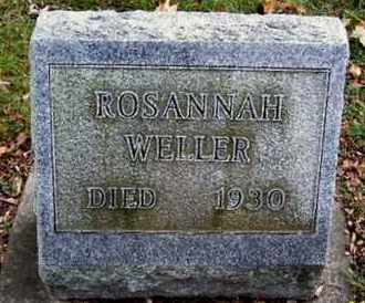 WELLER, ROSANNAH - Calhoun County, Michigan | ROSANNAH WELLER - Michigan Gravestone Photos