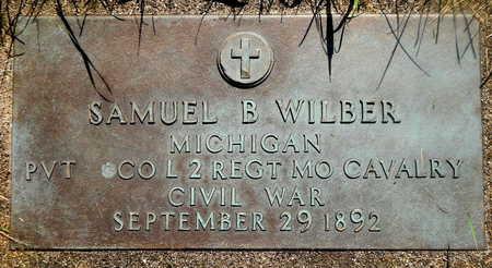 WILBER, SAMUEL B - Calhoun County, Michigan | SAMUEL B WILBER - Michigan Gravestone Photos