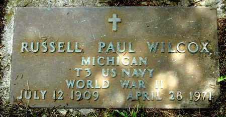 WILCOX, RUSSELL P - Calhoun County, Michigan   RUSSELL P WILCOX - Michigan Gravestone Photos