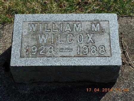 WILCOX, WILLIAM M. - Calhoun County, Michigan   WILLIAM M. WILCOX - Michigan Gravestone Photos