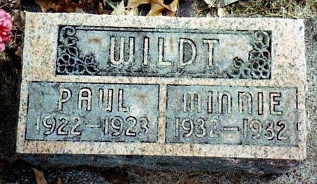 WILDT, MINNIE E. - Calhoun County, Michigan | MINNIE E. WILDT - Michigan Gravestone Photos