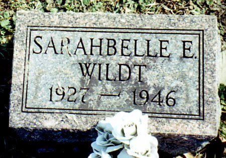 WILDT, SARAHBELLE E. - Calhoun County, Michigan | SARAHBELLE E. WILDT - Michigan Gravestone Photos