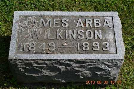 WILKINSON, JAMES ARBA - Calhoun County, Michigan | JAMES ARBA WILKINSON - Michigan Gravestone Photos