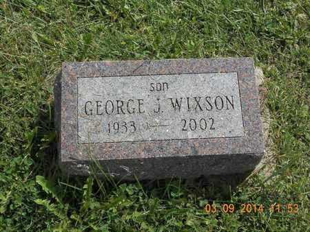 WIXSON, GEORGE J. - Calhoun County, Michigan | GEORGE J. WIXSON - Michigan Gravestone Photos