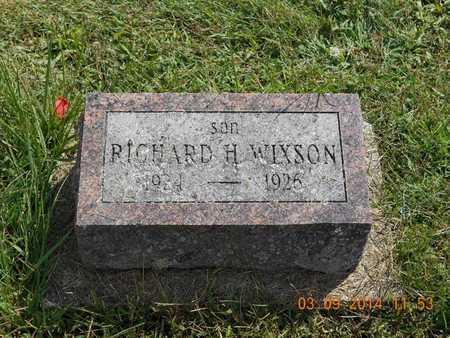 WIXSON, RICHARD H. - Calhoun County, Michigan   RICHARD H. WIXSON - Michigan Gravestone Photos